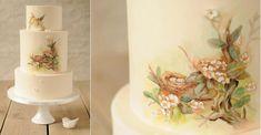 pretty 3 dimensional cakes   multi dimensional cake decorating birds nest cake by Be Sweet Li