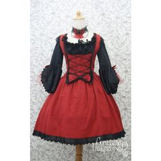 9b8c09d46c Red Queen Lolita Dress and Blouse ($145) ❤ liked on Polyvore featuring  dresses,