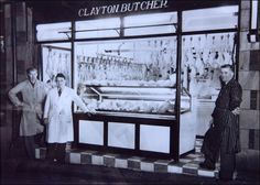 Claytons the butchers, Compston Road, circa 1950. Shop still selling the best Cumberland bangers you can buy.