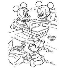 print coloring image Mickey mouse Mice and Colour book
