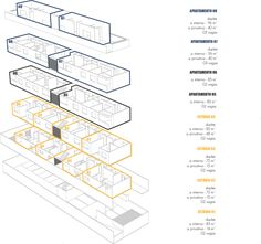 Image 17 of 26 from gallery of Zider Dwellings / Estudio Arquitetura + MEIUS Arquitetura. Origami Architecture, Arch Architecture, Studios Architecture, Architecture Graphics, Architecture Drawings, Bubble Diagram Architecture, Structural Drawing, Conceptual Sketches, Architectural Floor Plans