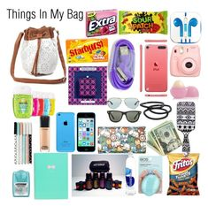"""""""RTD"""" by colliner13 ❤ liked on Polyvore featuring Charlotte Russe, River Island, PhunkeeTree, Polaroid, Jonathan Adler, Eos, Goody, Ray-Ban, Wet Seal and MAC Cosmetics School Emergency Kit, School Survival Kits, School Kit, School Bags, Middle School Supplies, Middle School Hacks, Life Hacks For School, School Bag Essentials, Travel Bag Essentials"""