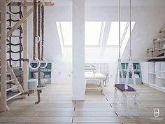 kids attic playroom / bawialnia na poddaszu Anna, Loft, Bed, Furniture, Home Decor, Decoration Home, Stream Bed, Room Decor, Lofts