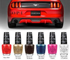 ford opi - and now my nails can match my 2015 Stang. :)