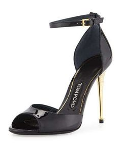 Patent d\'Orsay Sandal, Navy by TOM FORD at Neiman Marcus.