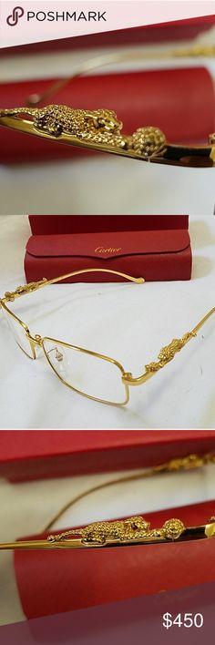 Model:Cartier glasses 3139930 Size:TITANIUM 23KGB 55□18 Color:Gold ...