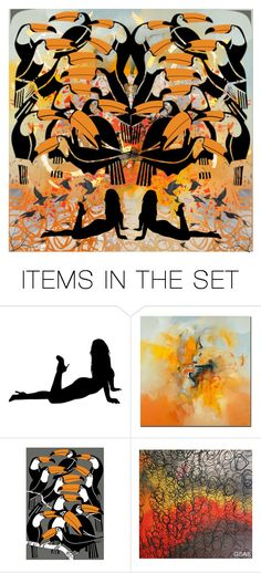 """""""Orange"""" by beanpod ❤ liked on Polyvore featuring art"""