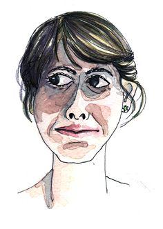 selfportrait #watercolor #illustration #marcelillapilla #pilla #portrait #selfportrait