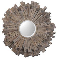 Uttermost Vermundo Wood Mirror