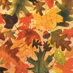 Autumn Leaves (Beverage Napkin)
