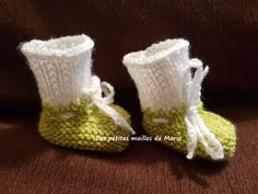 Chaussons bicolores pour bébé prématuré de 34 semaines