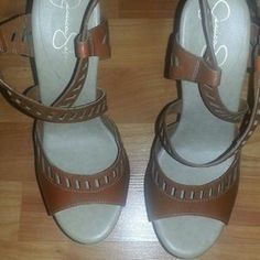 I just discovered this while shopping on Poshmark: Jessica Simpson platform heels. Check it out!  Size: 8
