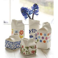 Porcelain Milk Jugs. so beautiful
