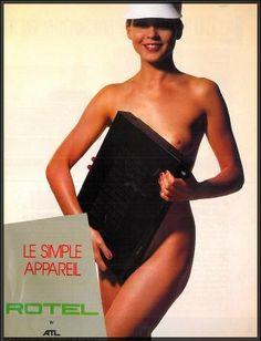En 1985,  #Rotel publie une réclame audacieuse qui serait probablement interdite à notre époque. #pub #vintage #EasyLounge