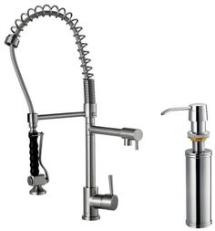 Kitchen:Photos Of Modern Commercial Kitchen Faucets : Modern Kitchen Faucets Stainless Steel Ultra Modern Kitchen Faucet Designs Ideas - Ind...