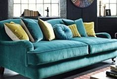 The eye-catching Festival sofa features a classic design with a bold modern twist. It comes with 4 scatter cushions offering excellent comfort. Visit us in store and take a seat on the great quality Festival sofa. Sofa Design, Furniture, Living Room Designs, Living Room Sofa, Living Room Paint, Couches Living Room, Teal Living Room Decor, Sofa Colors, Teal Living Rooms