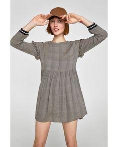 380c9e6765ebe Imagen 2 de VESTIDO CUADROS OVERSIZE de Zara Vestidos De Invierno