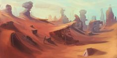 Abandoned Desert Mine Landscape by Appylon on deviantART