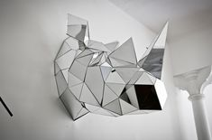 Stunning Geometric Mirrored Animal Sculptures - My Modern Metropolis