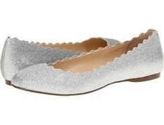 Blue by Betsey Johnson Shoes, Dance Flats - Silver