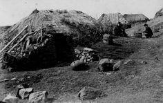 Old Photograph Hebridean Cottage Scotland