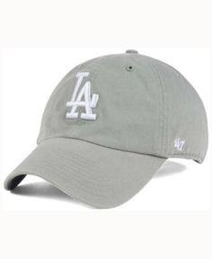 7940ea4be9292  47 Brand Los Angeles Dodgers Gray White CLEAN UP Cap   Reviews - Sports  Fan Shop By Lids - Men - Macy s