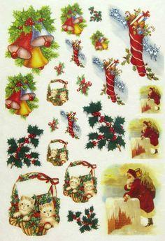 Italian christmas rice paper decoupage sheet italy germany die cut