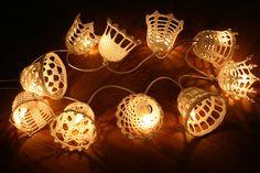 Crocheted bell ornaments by eLÍNeLLAN