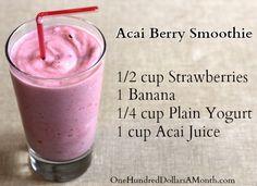 Easy Smoothie Recipes – Acai Berry Smoothie