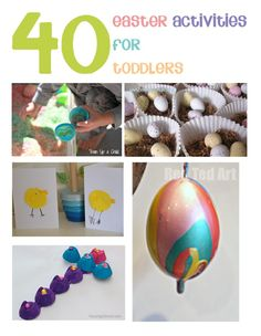 40 Easter Activities for Toddlers, crafts, play and family fun