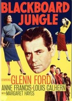 "The film Blackboard Jungle in 1955 included the first number-one rock and roll hit ""Rock Around the Clock."" Description from gambassa.com. I searched for this on bing.com/images"
