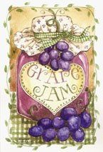 Grape Jam painting by Diane Knott, copyrighted