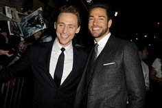 Tom Hiddleston and Zachary Levi - Dance-Off.....yes please!:)
