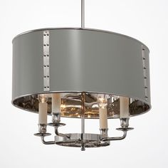 Charles Edwards--Hanging Oval Drum Shade Light HS 339