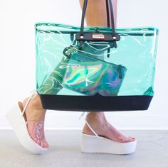 Talk about transparent. Shop the Hunter Divia Leather Tote Bag: http://www.nastygal.com/accessories-bags-backpacks/hunter-divia-leather-tote-bag?utm_source=pinterest&utm_medium=smm&utm_term=instagram&utm_content=clothing_optional&utm_campaign=pinterest_nastygal & the Rizzo Flatform: http://www.nastygal.com/shoes-platforms/nasty-gal-rizzo-flatform?utm_source=pinterest&utm_medium=smm&utm_term=instagram&utm_content=clothing_optional&utm_campaign=pinterest_nastygal