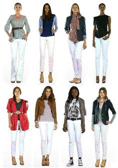 white jean outfits