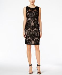 """** Macy's -- Calvin Klein Sequined Lace Sheath Dress **   -- Back Zipper w/ Hook-&-Eye Closure, Hits above Knee, Scoop Neckline; Sheath Silhouette, Allover Lace w/ Sequins, Shell & Lining: Polyester, Fits True to Size Web ID: 3026876   -- NOTE: Check-out Add'l Dresses on Site (Quite a Few that are Super Cute!!) + All other Top-of-Pg Categories (Including Sales in Drop--down Menu and, """"Deals & Promo's"""" found at Top--Right Corner (<-- Just below the Black Pg--Bar)"""