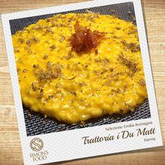 Risotto alla zucca, tartufo nero e prosciutto crudo croccante Prosciutto Crudo, Parma, Ethnic Recipes, Food, Hoods, Meals