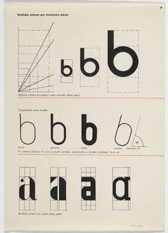 Graficke schema pro konstrukci pisma  Zdenek Rossmann (Czech, 1905–1984)