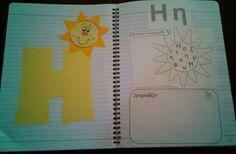 Η Book Letters, Babysitting, Grammar, Diy And Crafts, Alphabet, Greek, Language, Teaching, Education