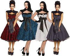 Rockabilly-50s-Vintage-Evening-Retro-Formal-Swing-Pin-Up-Dress-size-8-28-Plus