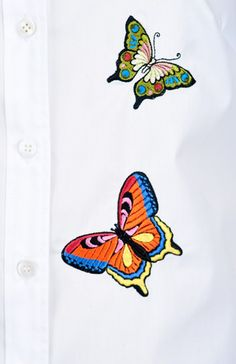 My Carmele Butterfly Blouse — Bora Bohème Ethical Fashion, Fashion Inspiration, Butterfly, The Incredibles, Embroidery, Blouse, Crafts, Color, Tops