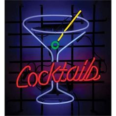 Cocktails Martini Neon Sign -
