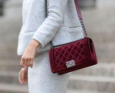 Chanel velvet crossbody