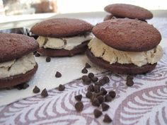 #paleo Double Chocolate Almond (or Sunflower) Butter Ice Cream Sandwiches from PaleOMG