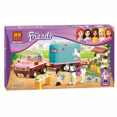 DIY Educational Blocks BELA Emma's Horse Trailer Andrea Olivia Minifigures Toy Compatible Legoelieds Friends For Girls Lepin #>=#>=#>=#>=#> Click on the pin to check out discount price, color, size, shipping, etc. Save and like it!
