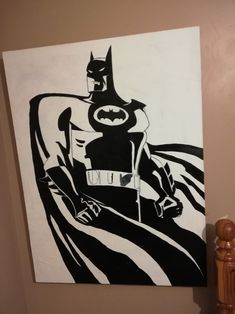 This was done by myself fir a friends birthday. Buggest canvas iv ever used Bruce Timm, Friend Birthday, Batman, Superhero, Canvas, Friends, Artwork, Fictional Characters, Art Work