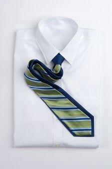Wide Stripe Repp Stripe Tie -Green and Blue Wide Stripes, Tie Clip, Nice Dresses, Menswear, Mens Fashion, Green, Neckties, Blue, Ootd