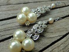 Vintage Triple Pearl and MarcasiteVintage by renewedheirlooms, $91.00