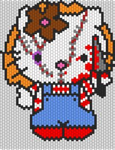 Kandi Patterns for Kandi Cuffs - Characters Pony Bead Patterns Pony Bead Patterns, Kandi Patterns, Perler Patterns, Peyote Patterns, Beading Patterns, Cross Stitch Patterns, Hello Kitty Halloween, Plastic Canvas Crafts, Plastic Canvas Patterns